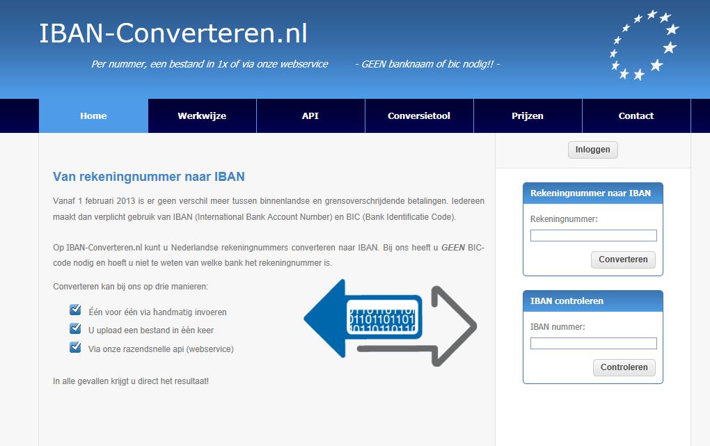 Ga naar www.IBAN-converteren.nl